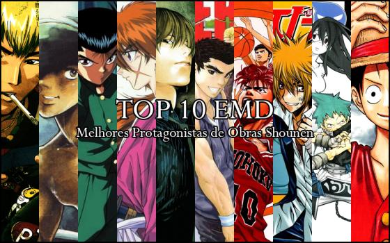 top 10 Melhores Protagonistas de Obras Shounen